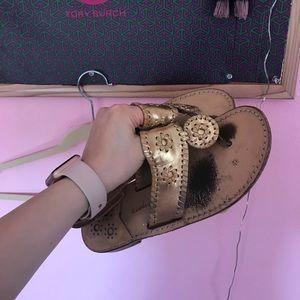 Jack Rogers Sandals Gold Size 9